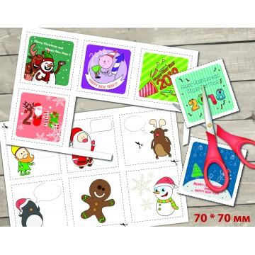 Мини открытки к Новому году